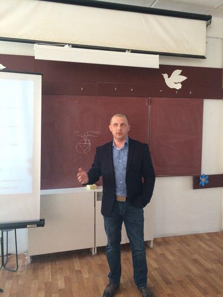 Валентин Пухов в школе