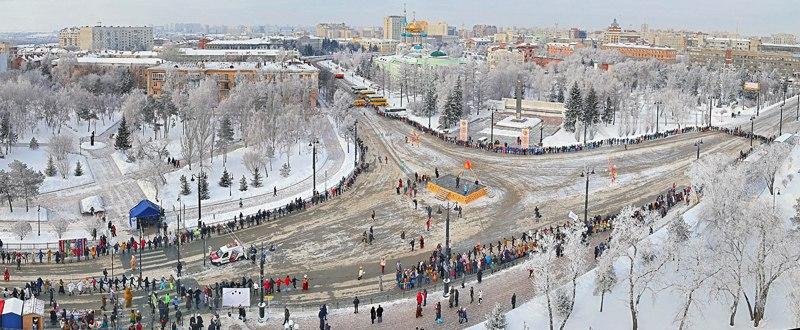Хоровод на масленницу в Омске