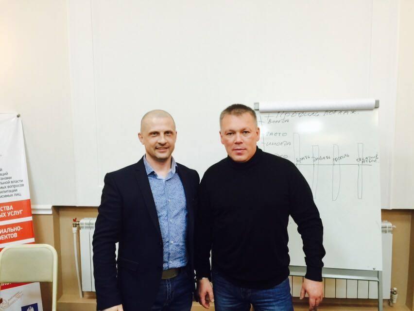 Валентин Пухов и Руслан Молодцов. Омск, февраль 2016